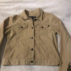 Abercrombie & Fitch Tan Corduroy Trucker Jacket